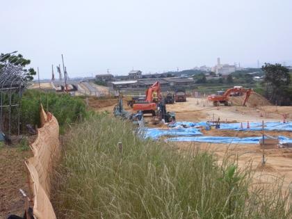 23号豊橋東BP小島西道路建設工事現場